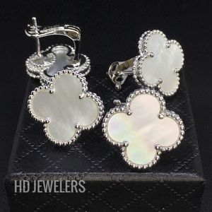 Jewelry - Solid 925 Sterling Silver Mother Of Pearl Earrings
